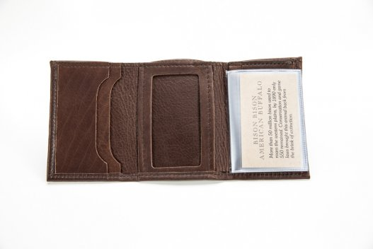Handmade Mens Wallet - Bison Leather - Made in USA - Buffalo Billfold Company