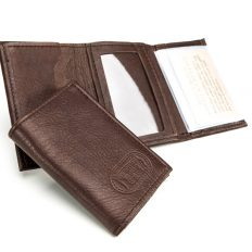 Leather Mens Trifold Wallet - Buffalo Leather - Made in USA - Buffalo Billfold Company