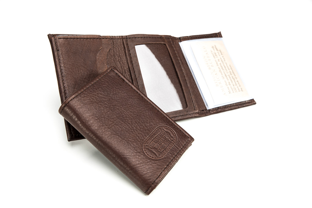 Leather Men Wallets With Coin Pocket Business ID Cards Holder 3 Fold Male Purses