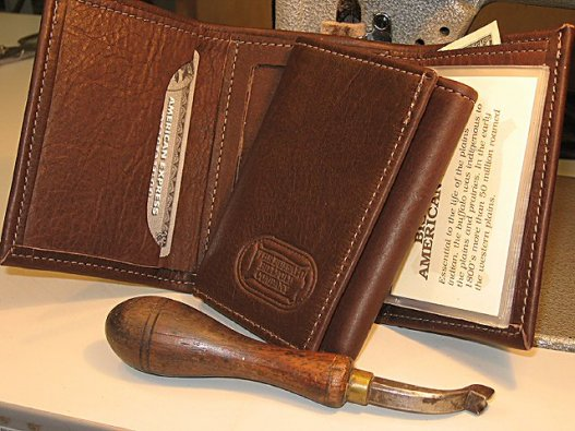 Mens Trifold Billfold / Leather Trifold Wallet - Made in USA - Buffalo Billfold Company
