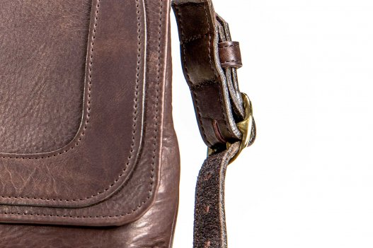Trim Style Buffalo Leather Purse - Made in USA