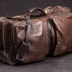 American Bison Leather Flight Bag - Made In America - Buffalo Billfold Company