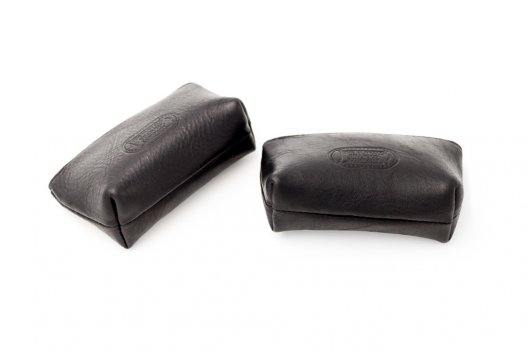 Leather Coin Case - Black - Buffalo Leather - Made in USA - Buffalo Billfold Company - Back