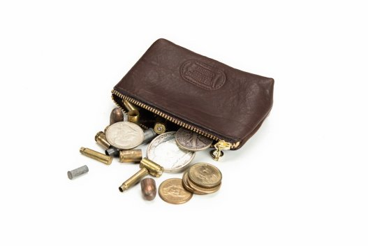 Annie Oakley Magnum Coin Case - Buffalo Leather - Made in America - Buffalo Billfold Company