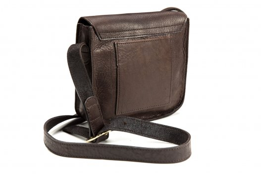 Bisonette Buffalo Leather Purse Made in USA - Back