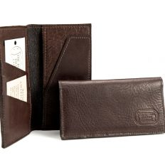 Buffalo Leather Checkbook Wallet - Made in the USA - Buffalo Billfold Company