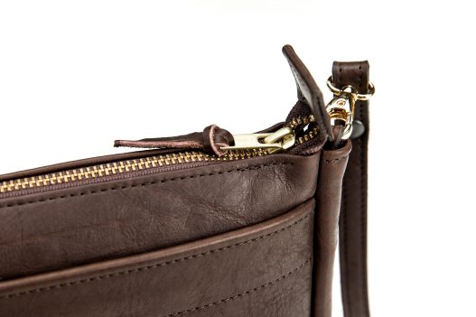 Cross Body Purse - Bison Leather - Made in USA