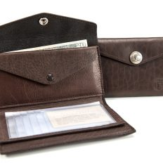 French Clutch Wallet - Buffalo Leather - American Made - Buffalo Billfold Company