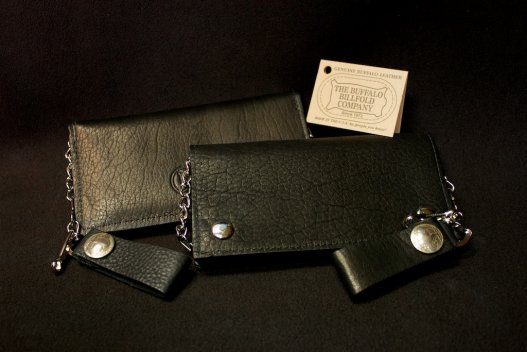 Buffalo Biker Billfold - Chain Leather Wallet - Made in America - Buffalo Billfold Company