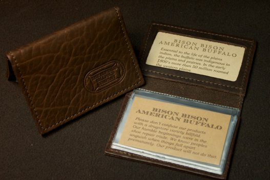 ID Card Case - Buffalo Leather - Made in America