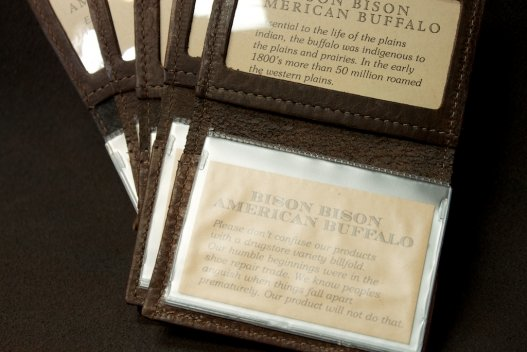 ID Card Holder - Buffalo Leather - Made in America
