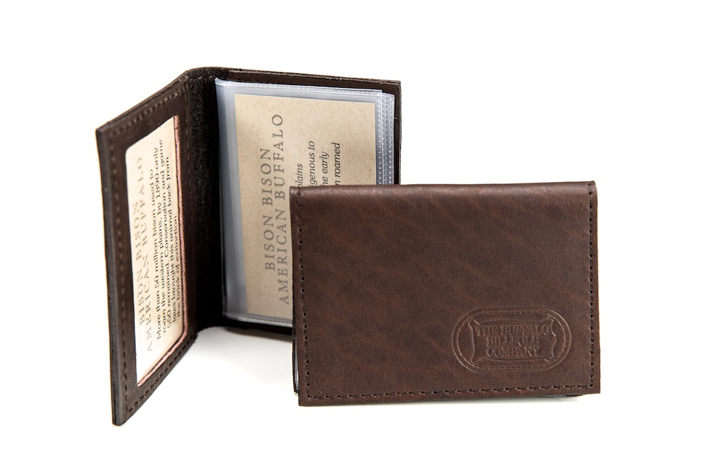 best loved e042c 81a79 ID Card Case - ID Card Holder - Buffalo Leather | Buffalo Billfold Com