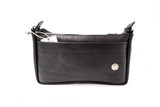 KW Buffalo Leather Purse - Black - Made In America - Buffalo Billfold Company