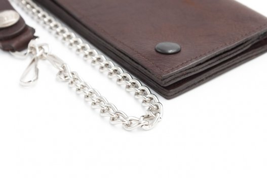 Mens Wallet with Chain - Bison Leather - Made in USA