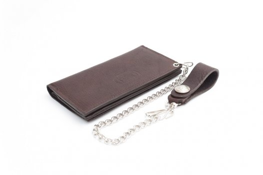 Mens Leather Wallet with Chain - Made in USA - Buffalo Billfold Company