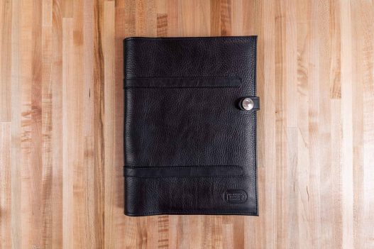 Black Leather Legal Pad Portfolio - Front - Made in USA