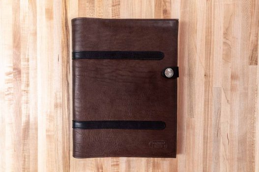 Black and Brown Leather Legal Pad Portfolio - Front - Made in USA