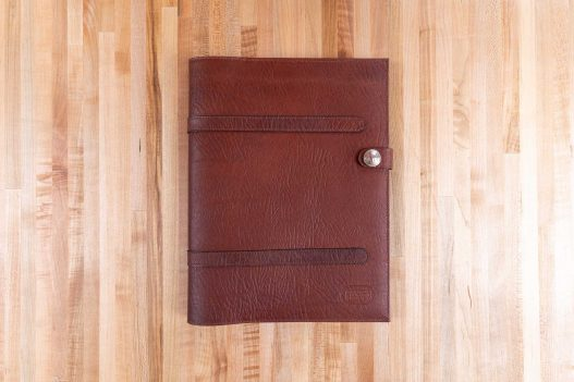 Russet Red Leather Legal Pad Portfolio - Made in USA