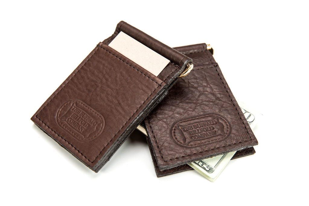 cf8a92db865c Money Clip Card Holder / Mens Money Clip - Made in USA - Buffalo Billfold  Company