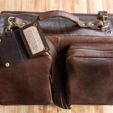 Leather Flight Bag - Made in USA