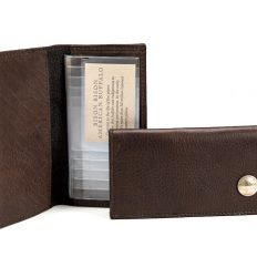 Handmade Buffalo Checkbook Cover - American Made - Buffalo Billfold Company