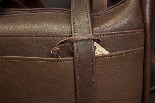 2-Strap Buffalo Leather Purse