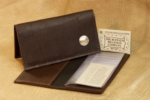 Buffalo Checkbook Cover with Nickel