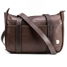 Large Brown Buffalo Leather Purse - Made in USA
