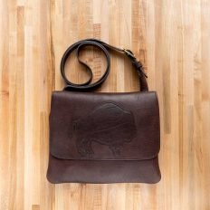 Trim Style Purse with Buffalo Applique - Made in USA
