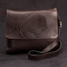 Trim Style Purse - Buffalo Applique