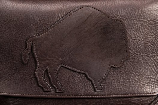 Trim Style Purse - Buffalo Applique - Made in America
