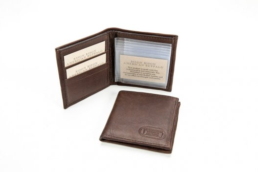 Hipster Leather Wallet Billfold - Buffalo Leather - Made in USA