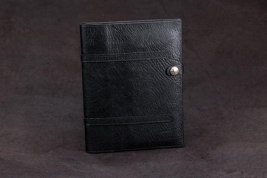 Buffalo Leather Standard Legal Pad Cover - Black - Made in America - Buffalo Billfold Company