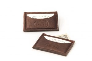 Buffalo Leather Front Pocket Wallet Card Case - Made in America - Buffalo Billfold Company