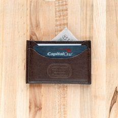 Handmade Leather Front Pocket Wallet - Made in USA