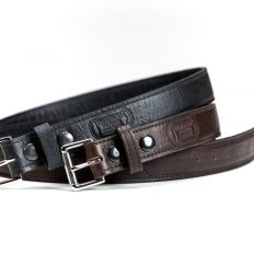 Buffalo Leather Belts - Black and Brown - Buffalo Billfold Company