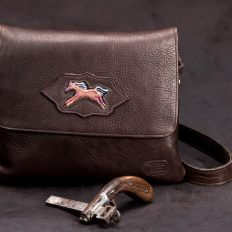 Spirit Horse - Trim Style Buffalo Leather Purse - Made in America - Buffalo Billfold Comapny