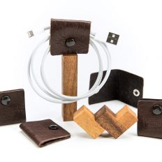 Buffalo Leather Cable Wranglers - Leather Cable Wraps - Made in the USA - Buffalo Billfold Company