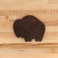 Buffalo Leather Coasters - Made in USA