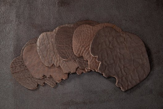 Buffalo Leather Coasters - American Bison - Made in America - Buffalo Billfold Company