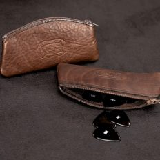 Buffalo Leather Guitar Pick Case - Made in America - Buffalo Billfold Company