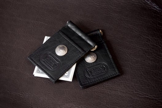 Black Money Clip Wallet - Buffalo Nickel - Made In America - Buffalo Billfold Company