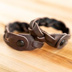Buffalo Leather Friendship Bracelets - Made in USA