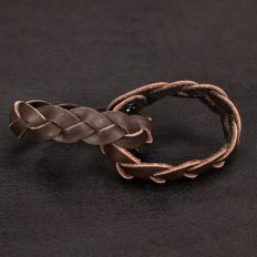 Mystery Braid Buffalo Leather Friendship Bracelets - Made In America - Buffalo Billfold Company