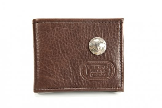Handmade Bifold Wallet - Buffalo Nickel - Made in America - Buffalo Billfold Company