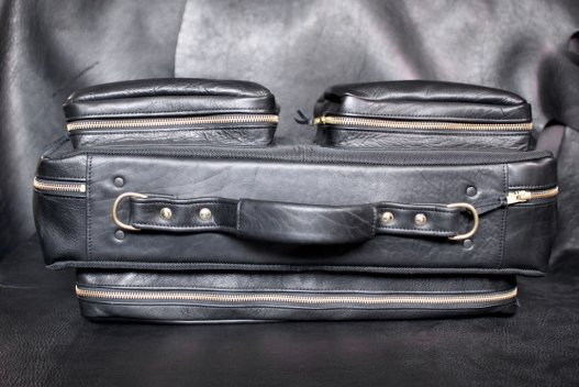Black Leather Carry On Bag - Buffalo Leather - Made In USA - Buffalo Billfold Company