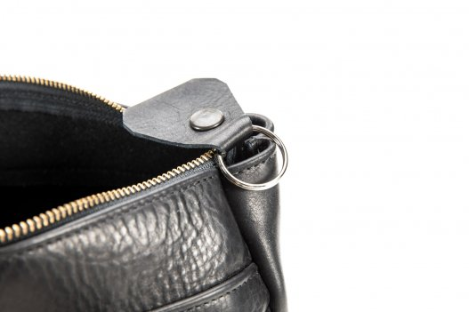 Black Purse - Buffalo Leather Key Ring - Buffalo Billfold Company