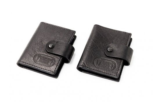 Extra Capacity Card Case - Black - Bison Leather - Made In USA - Buffalo Billfold Company