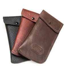 Leather Glasses Case - Bison Leather - Made in USA - Buffalo Billfold Company