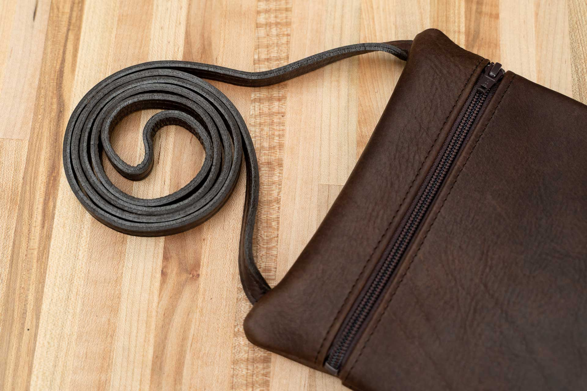 Crossbody Travel Purse - Leather - Made in USA